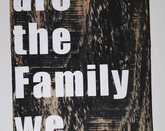 Little wooden sign