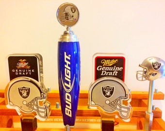 Oakland Raiders Tap Handles-Raider Nation-The Black Hole-Beer Tap-Christmas Gift For Men-Home Bar Decor-Football Beer Tapper-Derek Carr