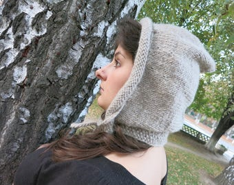 Beanie hat, winter accessories, slouchy hat, womens hat, slouch beanie, knitted hat, chunky hat, winter fashion, cowl with hood, hooded cowl