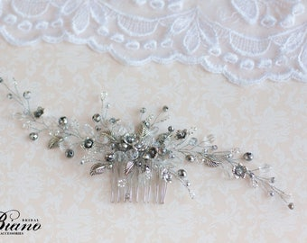 Wedding Hair Comb, Wedding Hair Accessory, Bridal Headpiece, Bridal Hair Comb, Wedding Headpiece, Bridal Hair Vine,  Party Hair Comb- SOFIA