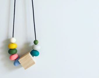Saturation - Silicone & Timber Necklace