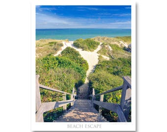 Nantucket beach photo/beach photos/Nantucket island photo/ocean photos/cape cod photo/beach path photo/stairs to beach photo/beach decor