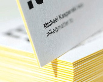 """25 Luxury Layered Square Business Cards. 2.5"""" x 2.5"""" Stunning Quadplex Cards. Four Sheets Bounded"""