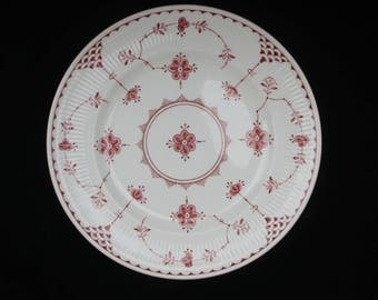 Furnivals Denmark Pink and White Salad or Entree  Plate 7.875 inches | Two available