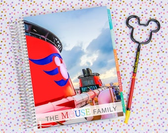 Disney World Erin Condren Life Planner Cover CUSTOMIZED DIGITAL DOWNLOAD - Disney Cruise 2