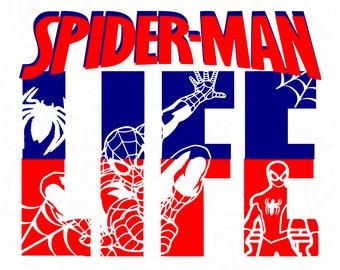 Spiderman svg,Spiderman life svg,Spiderman silhouette,Spiderman cut file,Spiderman cricut,vector,Spiderman shirt,life design,life shirt