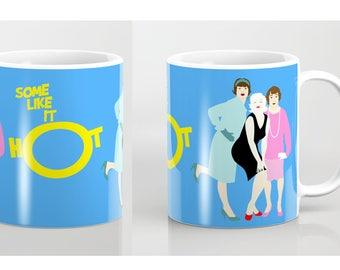 Some like it hot mug-Marilyn Monroe mug-Blue mug-Wizard of Oz mug-Yellow mug-Gift for him-For her-Colourful coffee mug-Cinema lover gift