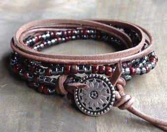 Bohemian wrap bracelet boho bracelet boho chic bracelet womens jewelry fashion jewelry fashion bracelet bohemian bracelet hippie bracelet