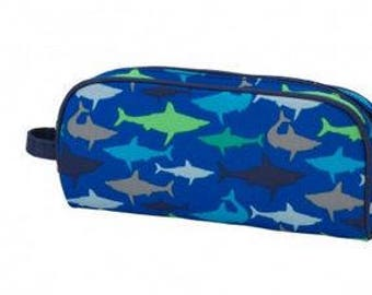 Monogram Jawsome Shark Pencil Case or Cosmetic Bag