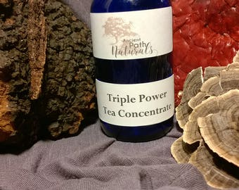 2 oz or 4 oz Triple Power Tea Concentrate Potent Natural Organic Sustainable Potent Healthy
