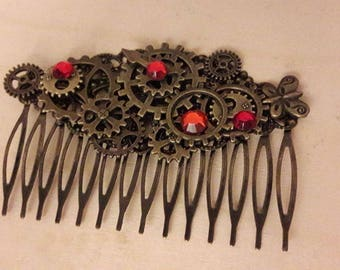 Large steampunk #2 comb