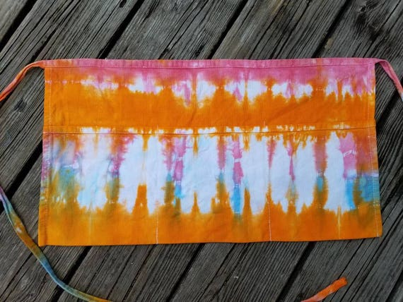 Sale Tie Dye Waist Apron, Tie Dye Vendor Apron, Tie Dye Craft Apron, Money Apron, Server  Apron, Tool Apron, Half Apron, Waitress Apron