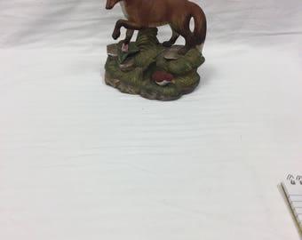 Bisque ceramic fox figurine