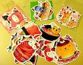 Die Cut Cute Anime Dessert Stickers