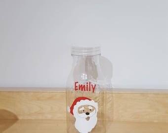 Santa plastic milk bottle  Christmas Eve Box stocking filler