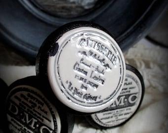 Furniture (door or drawer) etceramique wooden button: pastry Lenôtre
