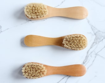 Natural Bristle Facial / Body Brush | Improve Skin | Purify | Lymphatic System  | Wood Brush | Dry Brushing | Cellulite Treatment