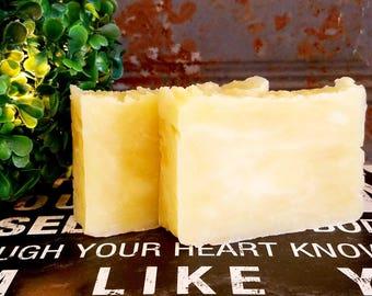 All-Natural Lemongrass Handmade Vegan Soap