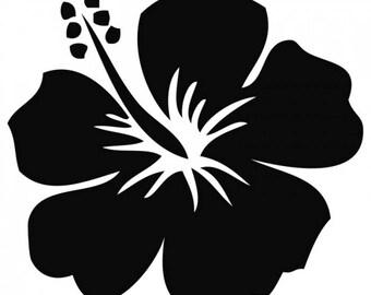 Hibiscus Flower Vinyl Decal Sticker