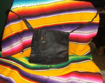 Leather hand bag, purse