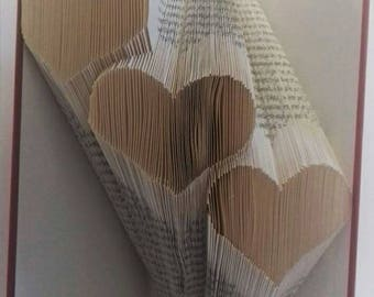 3 hearts bookfolding pattern, hearts, love, three hearts, joy, valentines, mmf