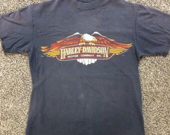 Vintage 1980s Harley Davidson Shirt (Clearwater Florida) medium