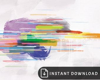 16x20 Colorful abstract art - minimalist painting, multicolor abstract painting, bright wall art, colorful modern decor, bright rainbow art