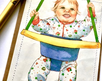 Baby in Swing Card