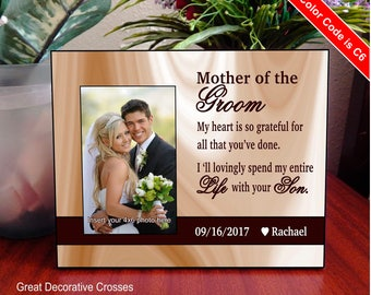 Mother of the groom personalized picture frame, Wedding gift to mom, Mother of the grooms gift, Gift to grooms Mother from the bride. FWA001
