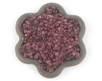 20grs (09 c) Purple 2mm seed beads