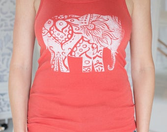 Custom Order Elephant Print Tank Top