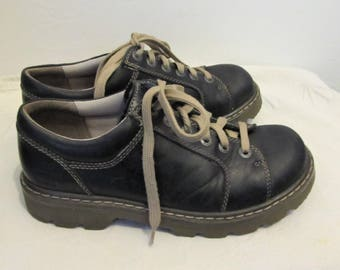 Vintage 90's,CHUNKY Black CASUAL Shoes By CAT.7/8/9