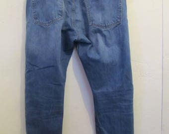 Men's Vintage 90's Blue STANDARD Fit TAPERED Leg Jeans By GAP.38x32