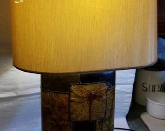 Vintage Ceramic Dragonfly Lamp - Westwood Shade