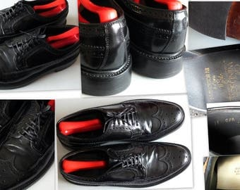 Crown windsor by Bostonion black leather wingtip size 11 C/A
