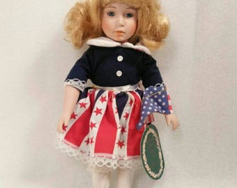 Vintage Limited Edition Summer Miss Porcelain Doll by Brinns