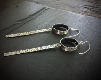 Long Dangle Earrings / Gift for Women / Long Modern Earrings / 925 Sterling silver