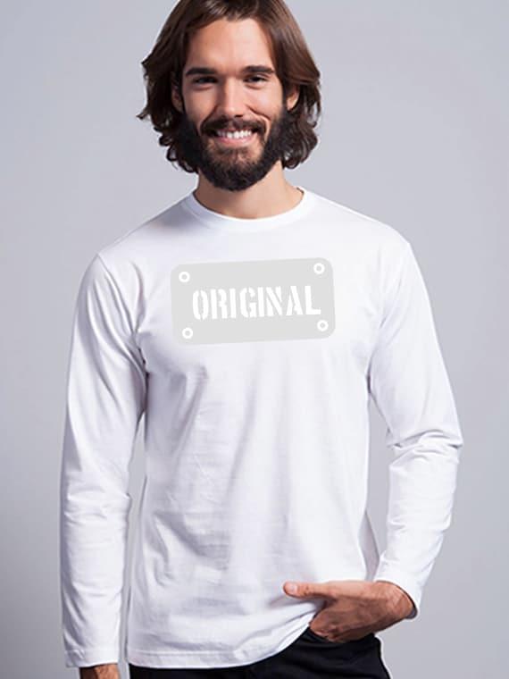Round neck men long sleeve t-shirt ORIGINAL