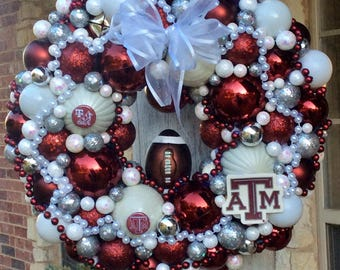Texas A&M Aggie Wreath 14""
