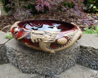 Oriental Style Pottery Bowl Always Azul