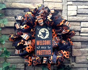 Halloween Decoration, Halloween Wreaths, Witch Wreath, Halloween Wreath, Halloween Decor, Mesh Wreath, Fall Wreaths, Wicked Witch Wreath
