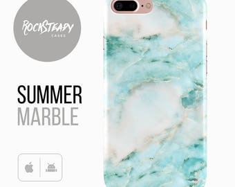 Marble iPhone 7 case,  iPhone 6, 8 Plus, X, 5S, SE  phone cover, samsung Galaxy S8 Plus, S6, S7, S7 EDGE S5 unique cell phone,blue and white