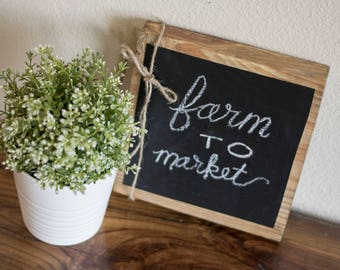 chalk board block shipping included!
