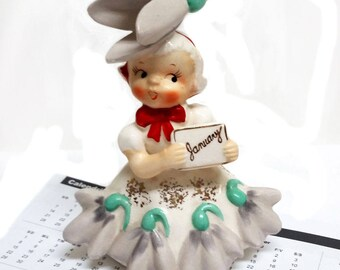 """Napco """"Flower of the Month"""" January Snowdrop Figurine"""
