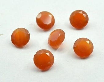 Wholesale Lot Of 10 Pieces Natural Red Onyx round cut faceted loose gemstone for jewelry