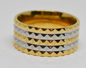 Lovely Two tone men's ring