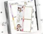 Eat Slay Love Monthly Notes Page Planner Kit | 43 Stickers | Planner Stickers | For Erin Condren LifePlanner