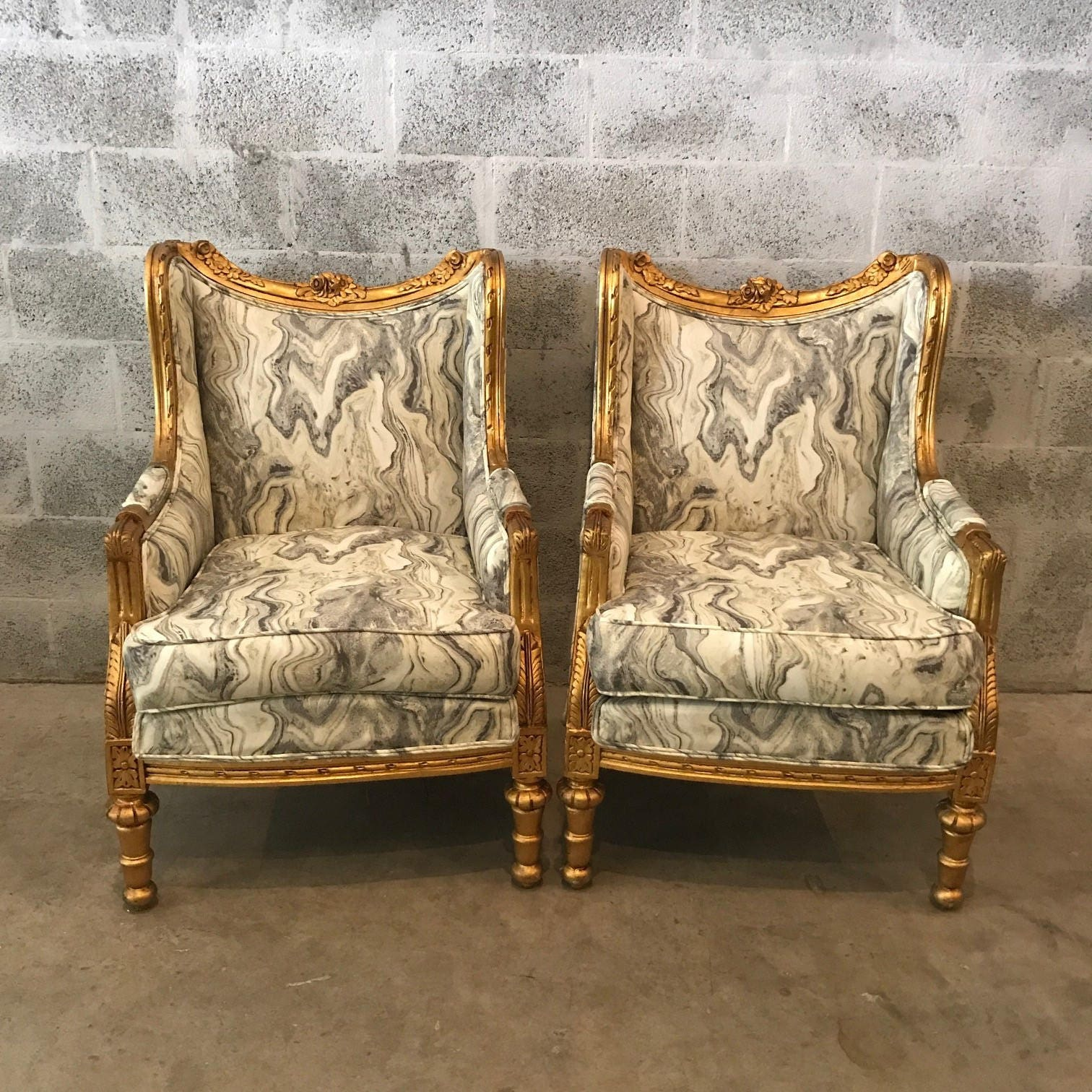 Antique bergere chair - Rococo Furniture Bergere Chair Marble Chair 2 Avail Original Gold Leaf Gild French Chair Louis Xvi French Furniture Antique Chair Baroque