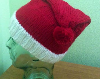 Santa Hat Small Adult  handmade