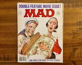 1981 Mad Magazine #225 / FN-VG / Popeye